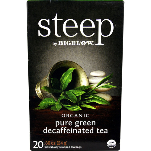 Bigelow Tea Steep Organic Pure Green Decaf Tea -- 20 Tea Bags