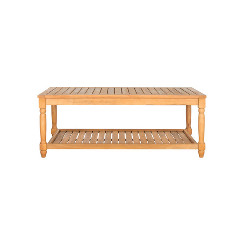 Oakley Coffee Table by Safavieh | teak brown | Gilt
