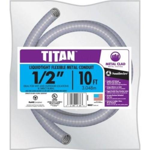 Southwire 1/2 in. x 10 ft. Liquidtight Flexible Metallic Titan Steel Conduit