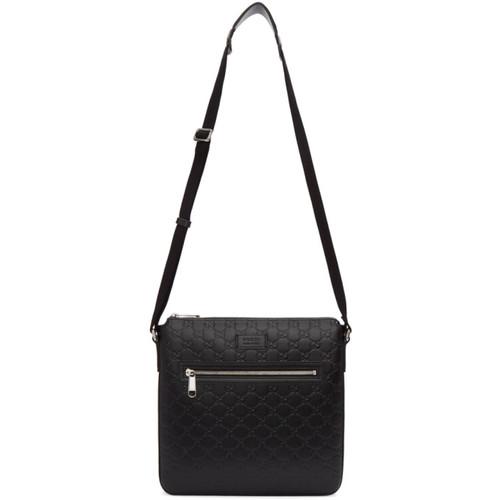 Black 'Gucci Signature' Messenger Bag