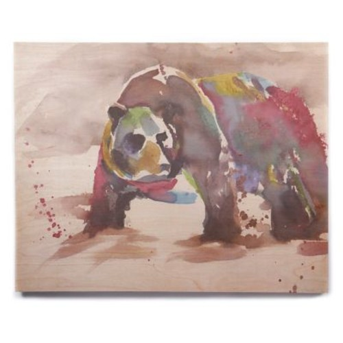 East Urban Home 'Grizzly Bear Watercolor' Watercolor Painting Print on Wood; 16'' H x 20'' W x 1'' D