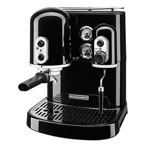 KitchenAid KES2102OB Pro Line Series Espresso Maker with Dual Independent Boilers, Onyx Black [Onyx Black]