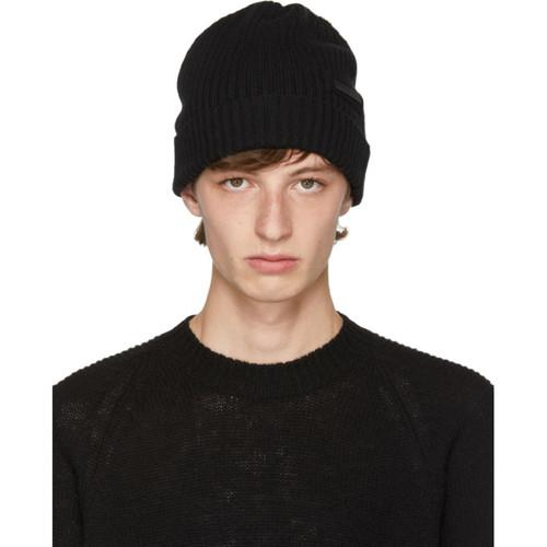 PRADA Black Cashmere Beanie