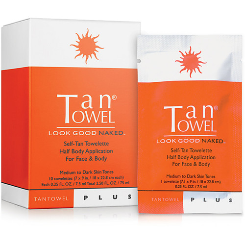 Plus Self-Tan Towelette Half Body Application For Face & Body