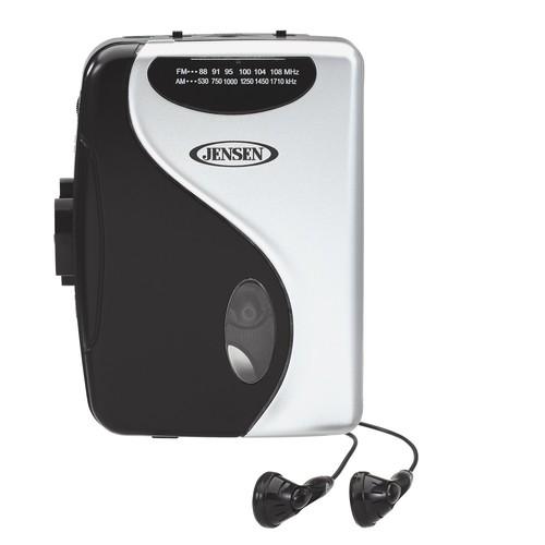 Jensen SCR-68C Stereo Cassette Player with AM/FM Radio [Black, Grey]