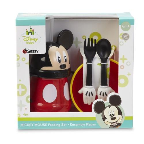 Disney Mickey Mouse Straw Cup, Feeding Bowl, Fork & Spoon