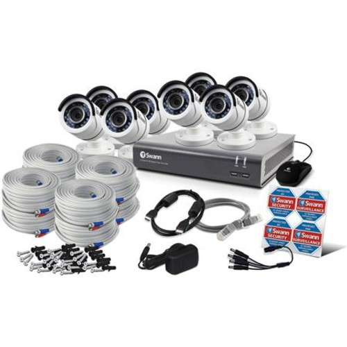 Swann 8 Channel 3MP DVR with 1TB HDD and 8x 1080p Outdoor Bullet Cameras