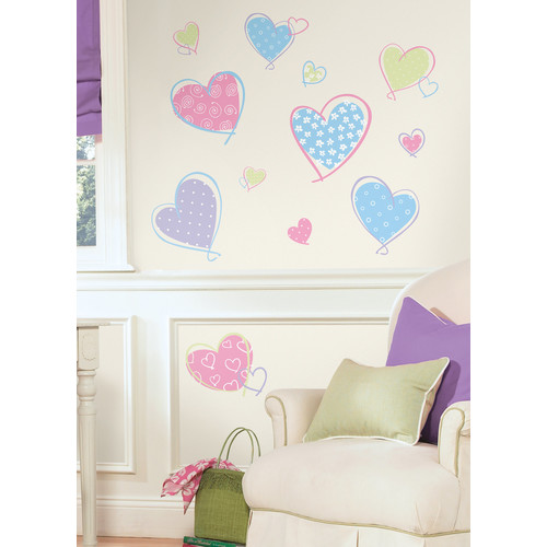 Roommates RMK1434SCS Hearts Peel & Stick Wall Decals
