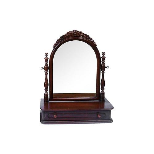 Black Walnut Swinging Dresser Mirror