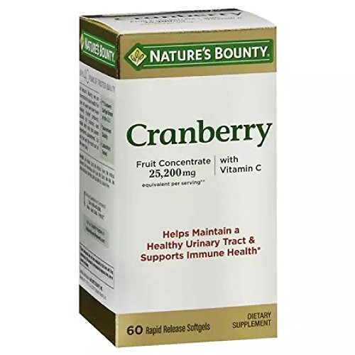 Nature's Bounty Triple Strength Cranberry with Vitamin C, 25,200 mg, 60 Softgels [60 Softgels]