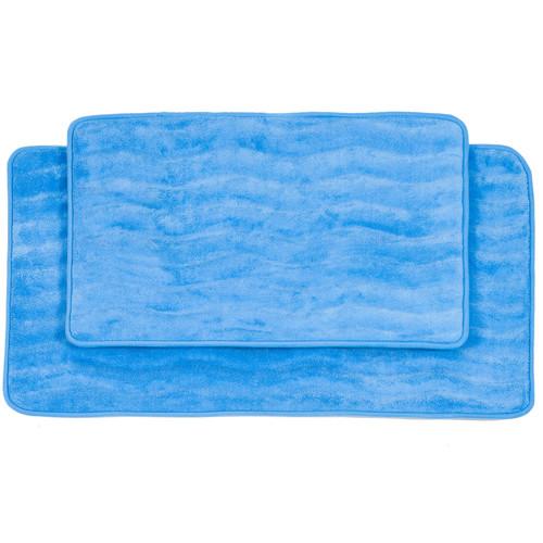 Lavish Home 2 Piece Memory Foam Bath Mat Set [Overall Dimensions :]
