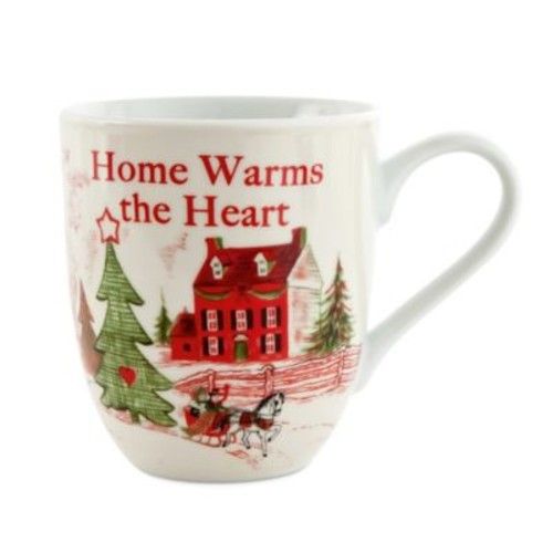 Fitz and Floyd Home Warms the Heart Holiday Mugs (Set of 2)