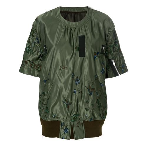 SACAI Embroidered Bird Sheen Sweatshirt