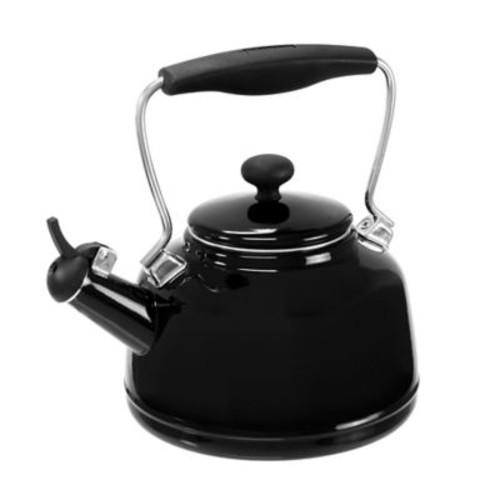 Chantal 2 Qt. Vintage Tea Kettle; Black