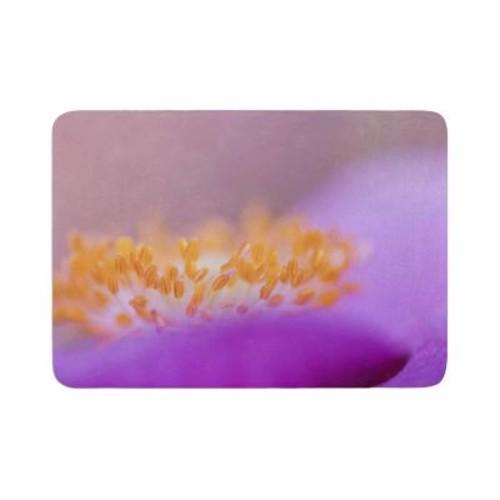 East Urban Home Iris Lehnhardt Grace Floral Memory Foam Bath Rug; 0.5'' H x 24'' W x 36'' D