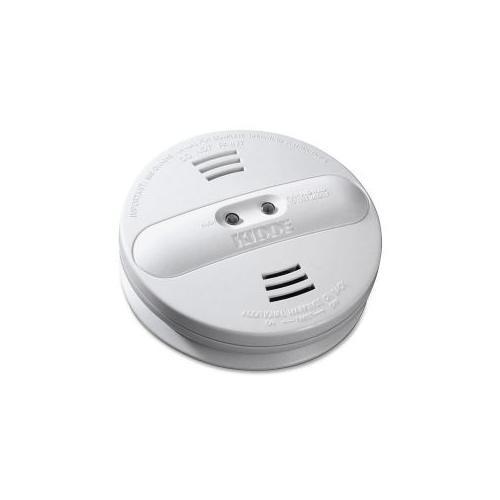 KIDDE FIRE AND SAFETY Smoke Alarm, Photo/Ion, Dual Sensor, Batt Opr, White
