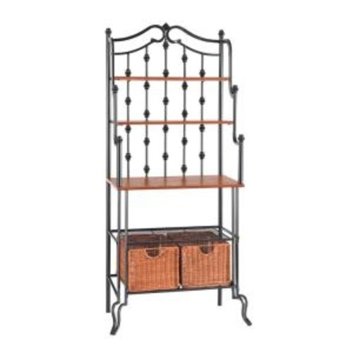 Southern Enterprises Saint Pierre Black Baker's Rack