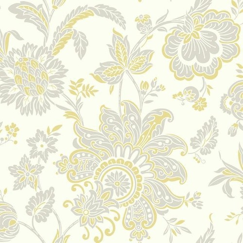 Arabella Wallpaper in Beige and Yellow design by York Wallcoverings - 2 [Quantity : 2]