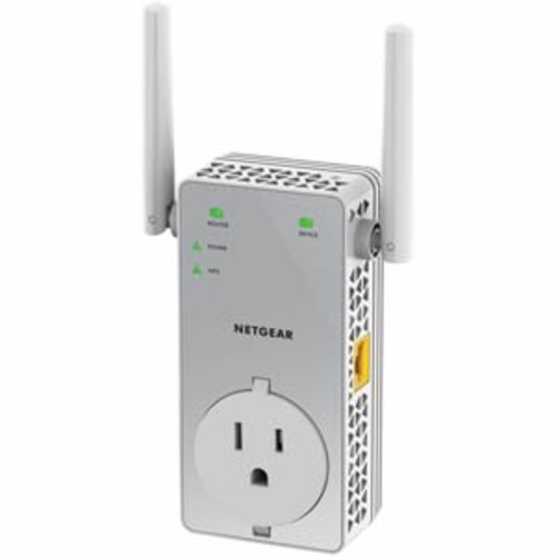 Netgear AC750 WiFi Range Extender with Extra Outlet