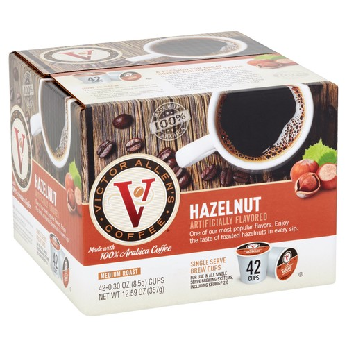 Victor Allens Hazelnut Coffee (42 Single Serve Cups per Case)