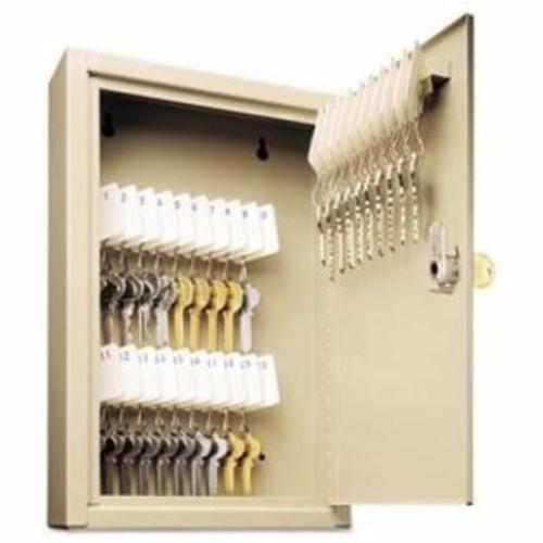 MMF Industries Uni-Tag Key Cabinet, 30-Key, Steel, Sand, 8 x 2 5/8 x 12 1/8 per EA