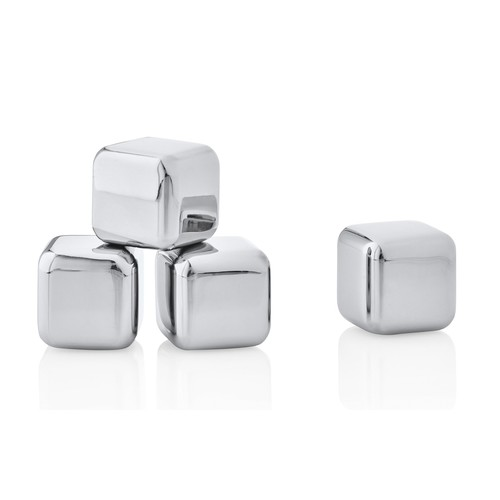 Lounge 4 Piece Stainless Ice Cubes Set