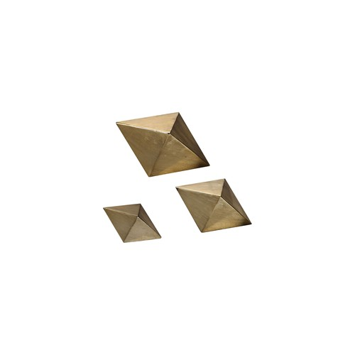 Uttermost Champagne Rhombus 3-Piece Tabletop Sculpture Set