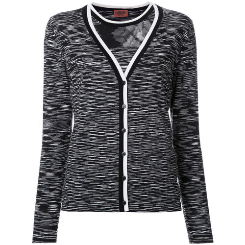 MISSONI Blurry Stripes Buttoned Cardigan
