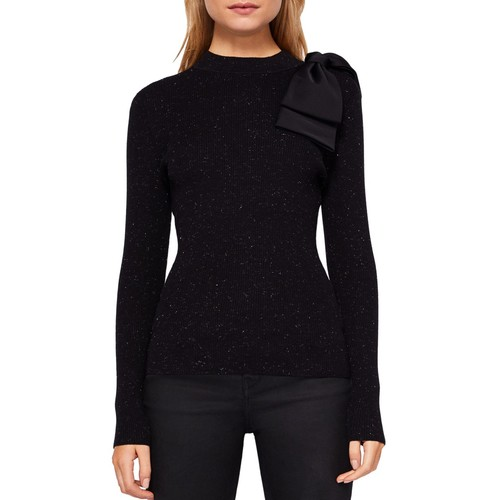 TED BAKER Gabiell Bow-Detail Sparkle Knit Sweater