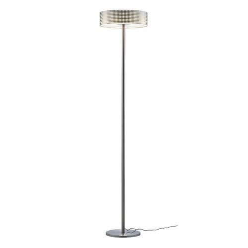 Adesso Wilshire 70-1/2 in. Satin Steel LED Floor Lamp