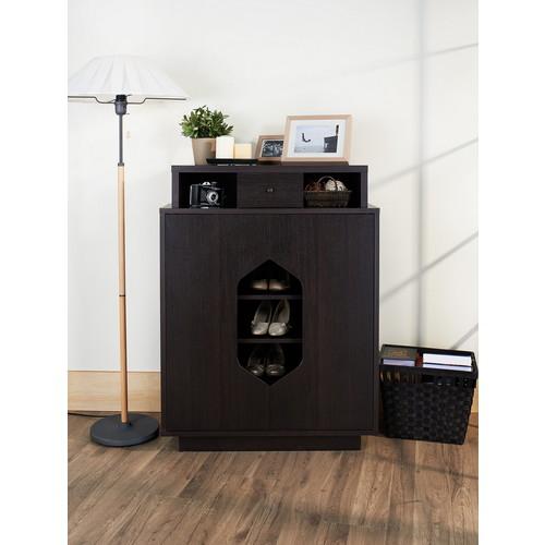 Furniture of America Espresso Irize Modern Shoe Cabinet