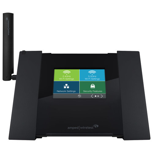 Amped Wireless - AC1750 Dual-Band Wi-Fi Router - Black