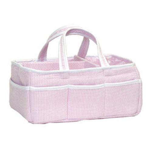 Trend Lab Gingham Seersucker Pink Storage Caddy