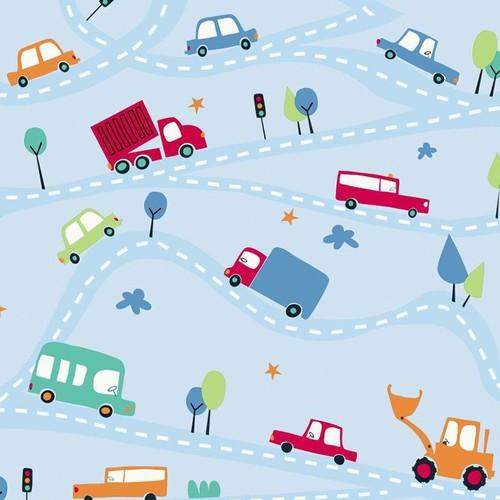 York Wallcoverings Peek-A-Boo Around Town Wallpaper