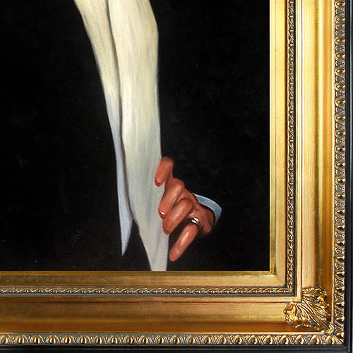 John Singer Sargent 'Sir Philip Sasson, 1923' Hand Painted Framed Canvas Art