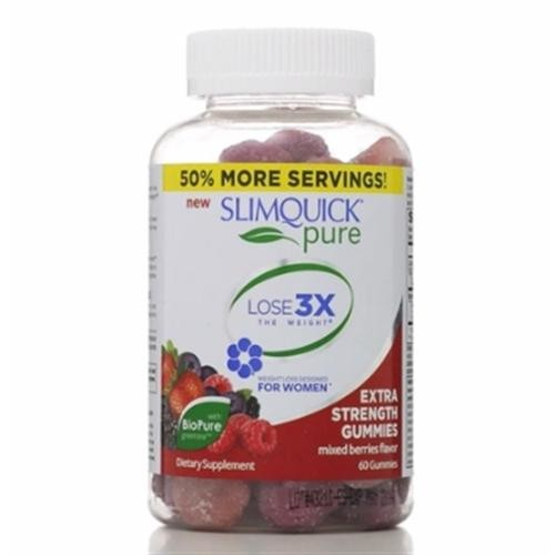 Slimquick Pure Weight Loss For Women Extra Strength Gummies Mixed Berries Flavor 60 Ct.