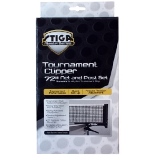 Stiga Master Series Tournament Table Tennis Clipper Net and Post Set