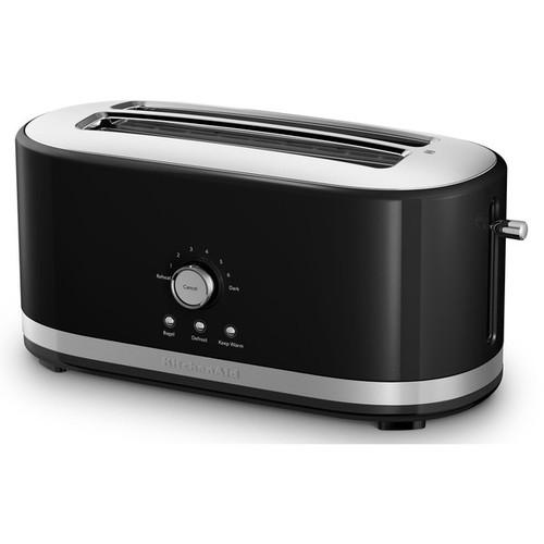 KitchenAid KMT4116OB Onyx Black 4-slice Long Slot Toaster with High Lift Lever