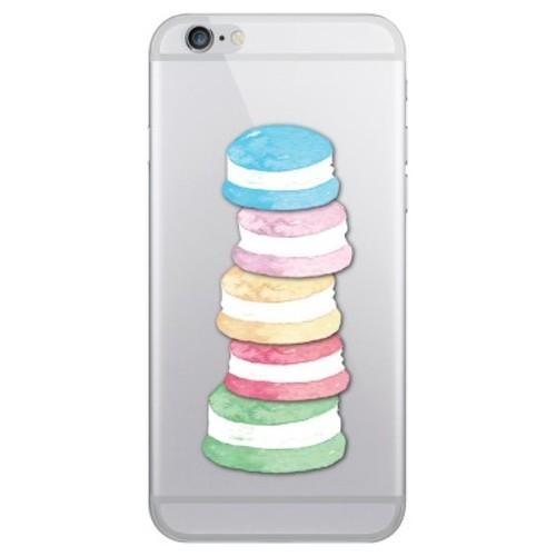 iPhone 6/6S/7/8 Case Hybrid Macaron Stack Clear - OTM Essentials