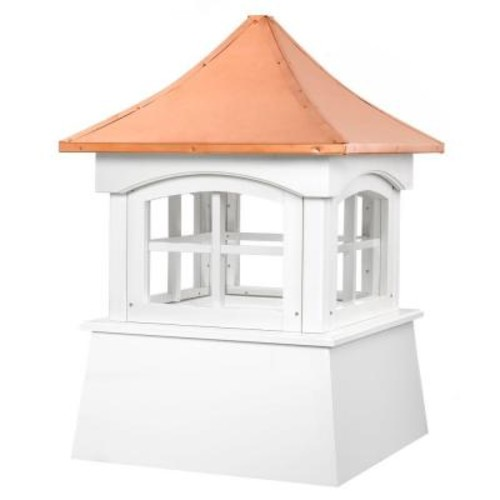 Good Directions Windsor 18 in. x 27 in. Vinyl Cupola with Copper Roof