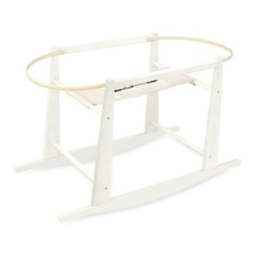 Jolly Jumper Rocking Moses Basket Stand in Antique White