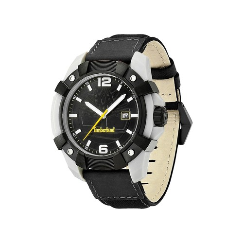 Men's Chocorua Leather Strap Watch, 46mm