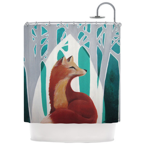 Fox Forest Shower Curtain