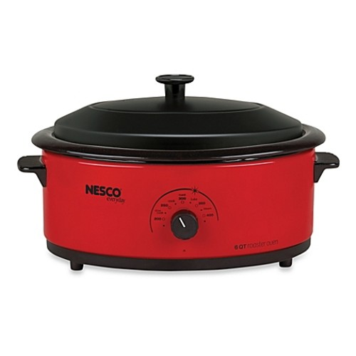 Nesco 6-Quart Electric Roaster Oven in Red