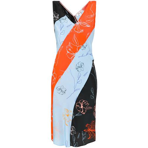 DVF DIANE VON FURSTENBERG Diagonal Stripe Colour-Block Dress