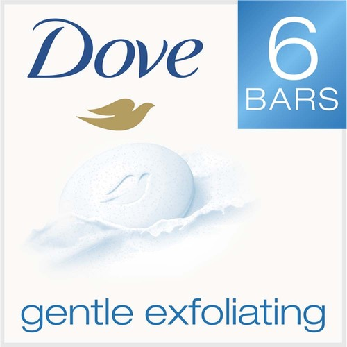 Dove Beauty Bar, Gentle Exfoliating, 6 - 4 oz (113 g) bars 24 oz (1.5 lb) 678 g
