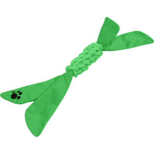 Pet Life Extreme Twist' Squeek Pet Rope Toy- Green