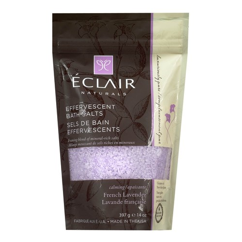 Eclair Naturals Effervescent Bath Salts French Lavender, 14 Oz, 1 Count