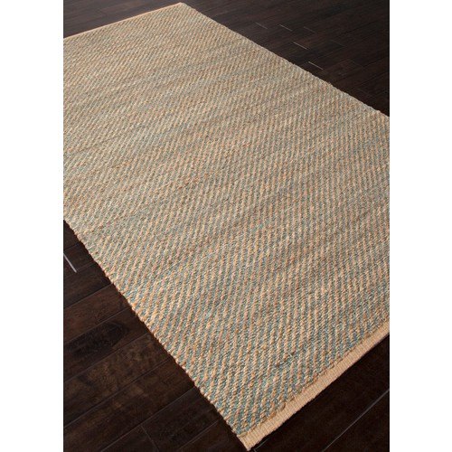 Himalaya Collection Diagonal Weave Rug in Mineral Blue design by Jaipur - 2'6 x 4