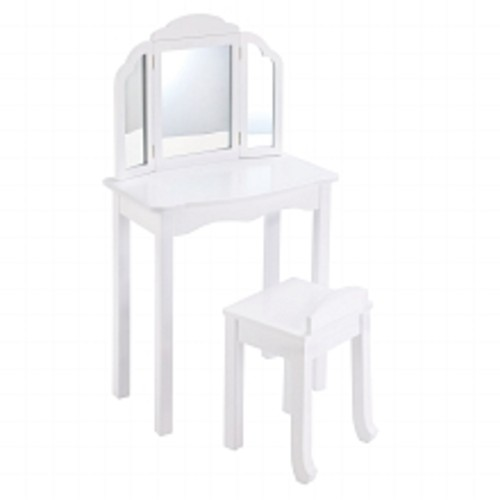 Guidecraft Expressions Vanity & Stool White 1.0ea